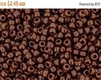 ON SALE 15/0 Opaque Oxblood Toho Glass Seed Beads 2.5 inch tube 8 grams TR-15-46