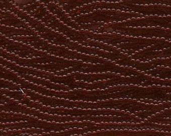 8/0 Garnet Transparent Genuine Czech Glass Preciosa Rocaille Seed Beads 39 grams