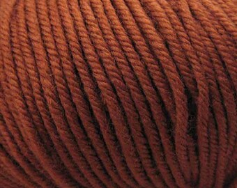 Clearance Dark Ginger Cascade 220 Superwash Yarn 220 yards 100% SuperWash Wool color 858