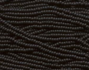 11/0 Jet Black Genuine Czech Glass Preciosa Rocaille Seed Beads 18 grams
