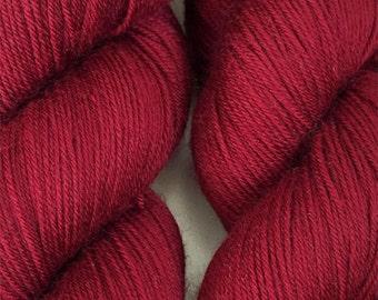 Wine Red Cascade Heritage Yarn 437 yards Super Fine Wool Nylon Sock Yarn Color 5663