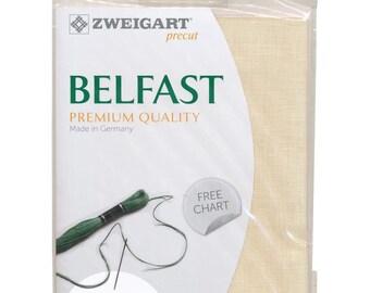 "Zweigart Belfast Cross Stitch Fabric Cream Premium Quality Linen 32 Count 19""X27"""