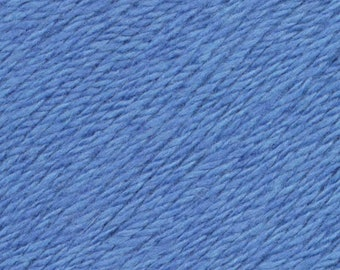 Hyacinth Blue United Lambswool Cotton by Queensland Collection Sport Weight Certified Organic 251 yards
