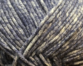 Clearance Navy Blue Cascade Sarasota Cotton and Acrylic Tweed Yarn 314 yards Color 03