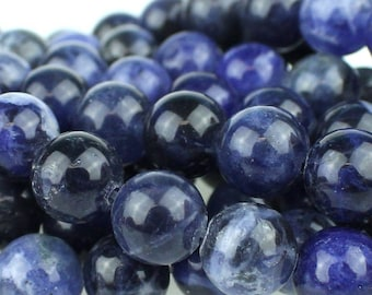Sodalite 8mm Gemstone Rounds Approx 23 beads 8 Inch strand