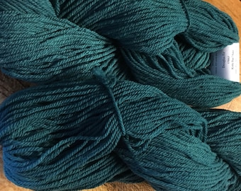 Douglas Fir Green Cestari Mt Vernon Collection 100% Fine Merino Wool 3 ply Kettle Dyed DK Weight 232 yards Made in the USA