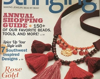 ON SALE Stringing Magazine Annual Shopping Guide 150 Plus Favorite Beads Southwest Designs Create with Rose Gold Repairing Jewelry Fall 2016