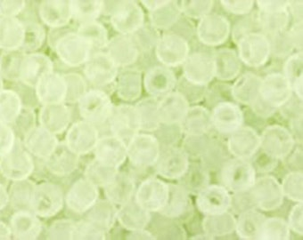 11/0 Transparent Frosted Citrus Spritz Toho Glass Seed Beads 2.5 inch tube 8 grams TR-11-15F