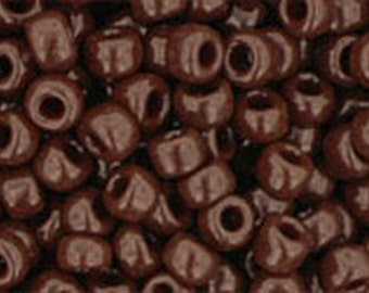8/0 Opaque Oxblood Toho Glass Seed Beads 2.5 inch tube 8 grams TR-08-46