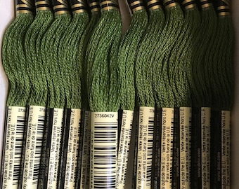 DMC 937 Medium Avocado Green Embroidery Floss 2 Skeins 6 Strand Thread for Embroidery Cross Stitch Needlepoint Sewing Beading