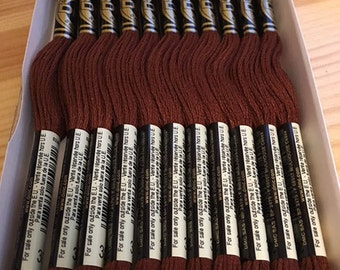 DMC 300 Very Dark Mahogany Embroidery Floss 2 Skeins 6 Strand Thread for Embroidery Cross Stitch Needlepoint Sewing Beading