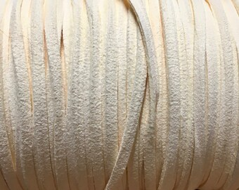 Ivory Ultra Micro Fiber Suede Faux Suede 3mm 6 yards
