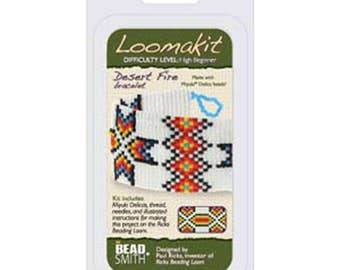 Bead Loom Kit Loomatiks Desert Fire with All Materials Included plus Instructions with Beads