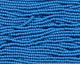 11/0 Turquoise Opaque Genuine Czech Glass Preciosa Rocaille Seed Beads 18 grams