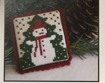 Snowman Cross Stitch Sampler Pattern The Prairie Schooler 2007