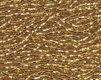 8/0 Gold Silver Lined Czech Glass Preciosa Rocaille Seed Beads 38 grams SB8-17050