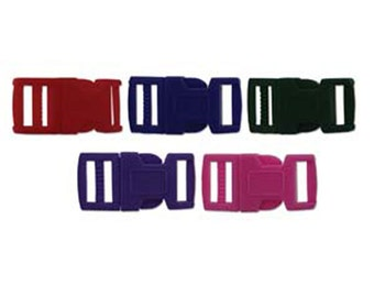 Clearance 15mm Multi Colored Plastic Paracord Macrame Buckles 6 complete sets