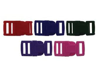 15mm Multi Colored Plastic Paracord Macrame Buckles 6 complete sets