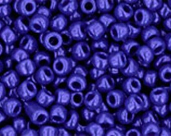11/0 Opaque Navy Blue Toho Glass Seed Beads 2.5 inch tube 8 grams TR-11-48