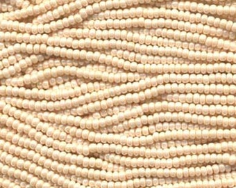 11/0 Eggshell Genuine Preciosa Czech Glass Seed Beads 20g