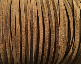 Light Brown Ultra Micro Fiber Suede Faux Suede 3mm 6 yards