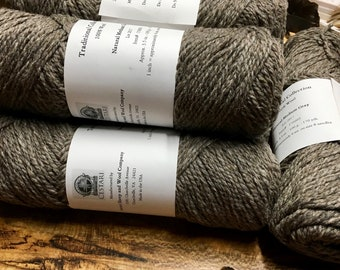 Cestari Natural Medium Gray Traditional Collection 100% Wool 2 ply Worsted Weight 170 yards Pull Skein Made in the USA
