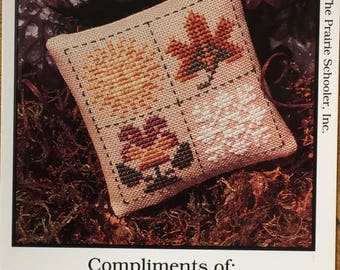 Prairie Season Mini Cross Stitch Sampler Pattern The Prairie Schooler 1995