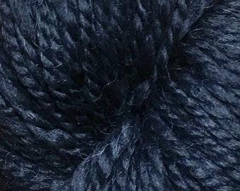 Araucania Lujoso Baby Alpaca Merino Wool Mulberry Silk Worsted Weight Yarn Color 23 Onyx Black 164 yards