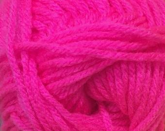 Neon Strawberry Cascade Anthem Yarn 186 yards 100% Acrylic Color 63