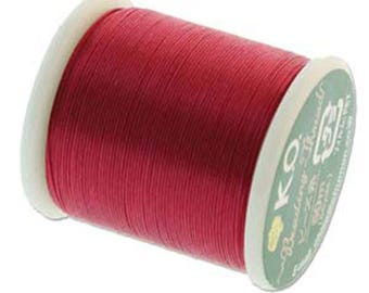 Scarlet Pink KO Nylon Japanese Beading Thread 55 yards