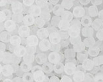 11/0 Ceylon Frosted Snowflake White Toho Glass Seed Beads 2.5 inch tube 8 grams TR-11-141F
