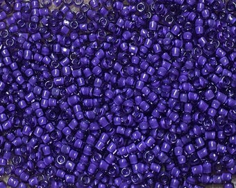 11/0 Purple Color Lined Purple Japanese Seed Beads 6 Inch Tube 28 grams #399J