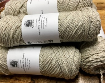 Cestari Natural Light Gray Traditional Collection 100% Wool 2 ply Worsted Weight 170 yards Pull Skein Made in the USA