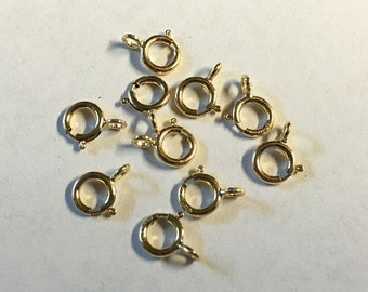 Spring Ring Clasp Gold Filled Spring Rings 5mm 10 Clasps F376B