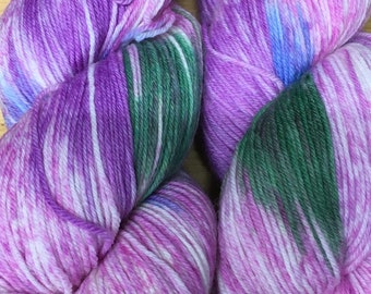 Araucania Huasco Sock Yarn Hand Painted Superwash Wool Polyamide Super Fine Fingering Weight Yarn #1016 Santiago 433 yards