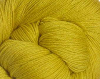 Mustard Yellow Gold Cascade Heritage Yarn 437 yards Super Fine Wool Nylon Sock Yarn Color 5652