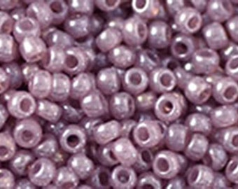 11/0 Ceylon Grape Mist Toho Glass Seed Beads 2.5 inch tube 8 grams TR-11-151