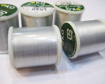 Grey KO Nylon Japanese Beading Thread Gray 55 yards