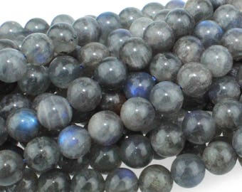 Labradorite 6mm Gemstone Rounds Approx 35 beads A Grade 8 Inch strand