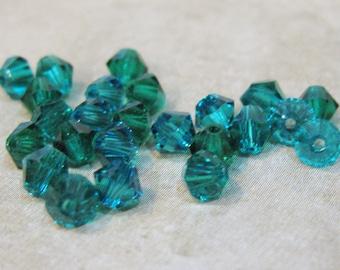 Blue Zircon 5328 Bicone Swarovski Crystal Beads 4mm 24 beads