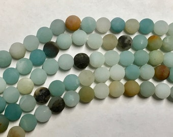 Amazonite Multi Color Matte Gemstone Beads 6mm Rounds Approx. 32 beads