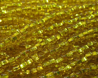6/0 Yellow Silver Lined Genuine Preciosa Czech Glass Seed Beads One Strand 12 grams
