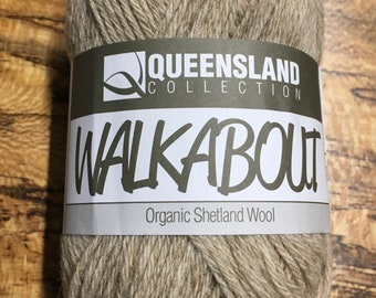 Oatmeal Walkabout Organic Shetland Wool by Queensland Collection Sport Weight Certified Organic 157 yards Color 11