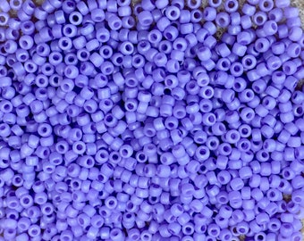 11/0 Frosted Light Orchid Japanese Seed Beads 6 Inch Tube 28 grams #F534A