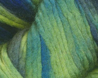 Shades of Green and Blue Tierra Del Fuego by Araucania 100% Wool Super Bulky Weight Variegated 88 yards #113