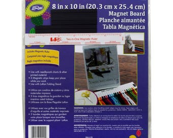 "LoRan Magnet Board 8""X10"" and 6"" Ruler Made in USA"