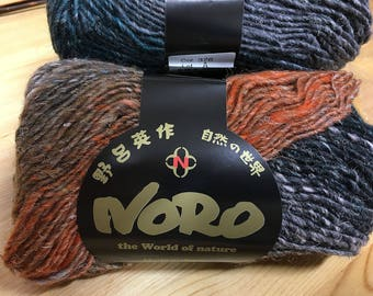 Black Pink Grey Orange Multi Noro Silk Garden 110 yards Silk Mohair Wool Blend color 376