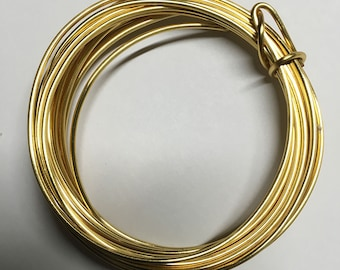 14 gauge Gold Non Tarnish Copper Craft Wire 10 ft Made in USA