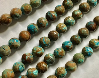 Imperial Jasper Gemstone Beads Faceted Rounds 6mm 8 inch strand Approx 32 pcs per strand