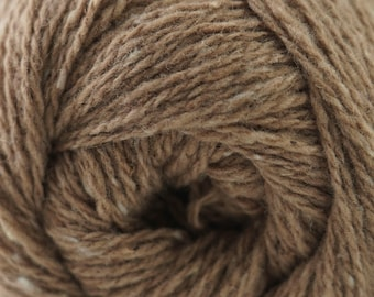 Aegean Tweed Tannin Brown by Cascade Organic Wool Tweed Yarn Rustic Look Yarn 328 yards DK Weight Color 08